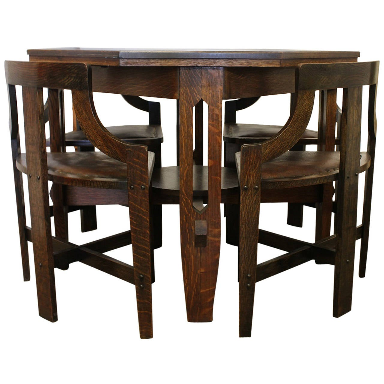 Rare arts and crafts game table and chairs at 1stdibs for 10 games in 1 table