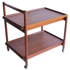 Mid Century Danish Teak Bar Cart