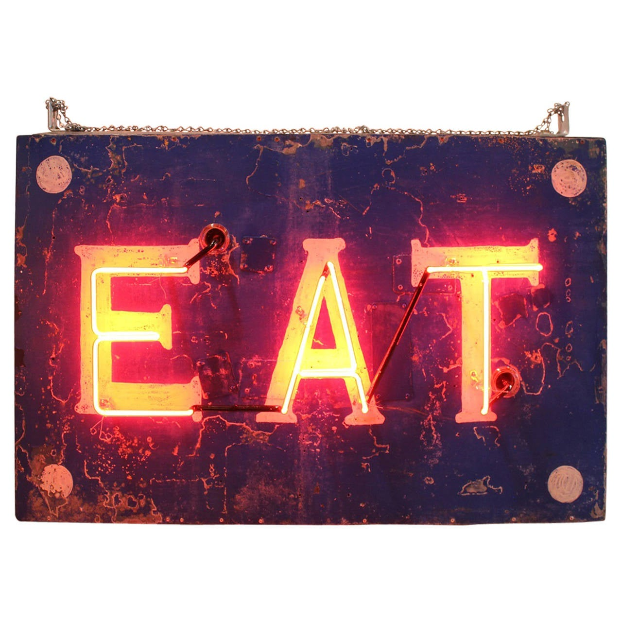 """1930s Double-Sided """"Eat"""" Neon Sign"""