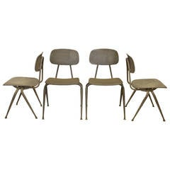 1950s American Metal School Chairs, More Available