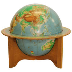 Large 1959s World Globe by Denoyer-Geppert Company