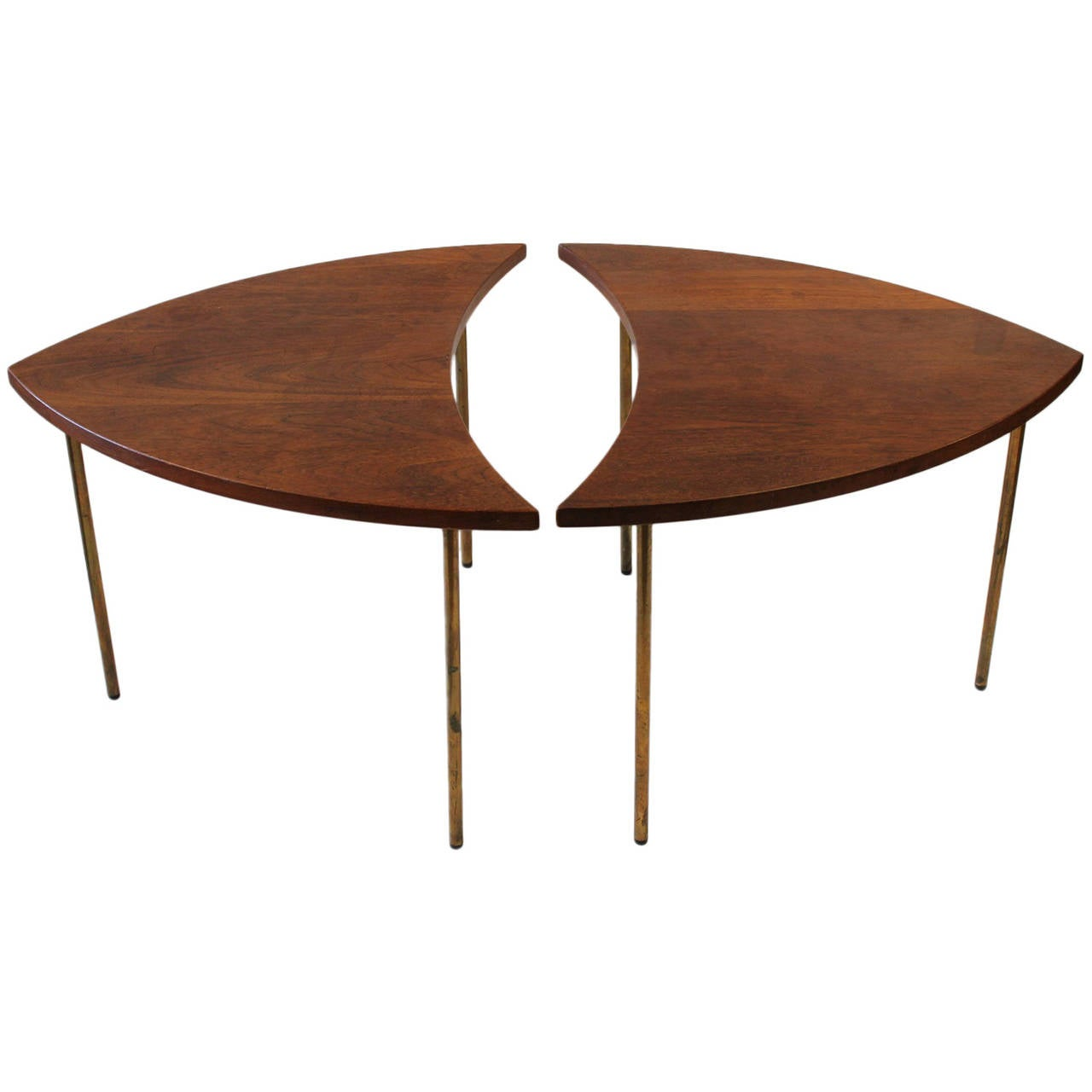 Rare Mid-Century Danish Segmented Side Tables by Peter Hvidt for John Stewart