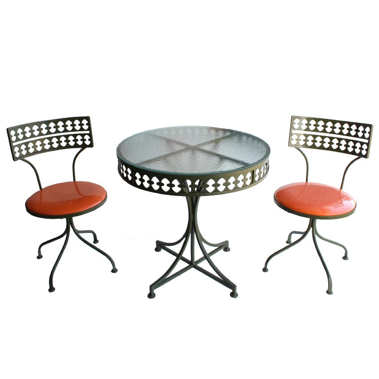Vintage metal garden furniture at 1stdibs Vintage metal garden furniture
