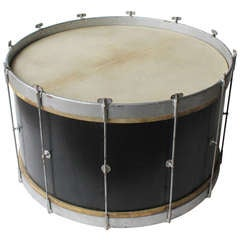 Antique Over Sized Wooden Drum