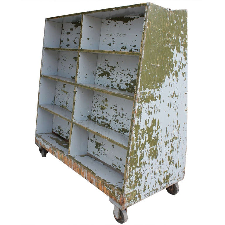 1930 39 s american industrial double sided mobile cart at 1stdibs for Beckerman kitchen cabinets