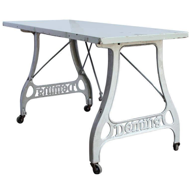 Delicieux Antique Industrial Folding Table