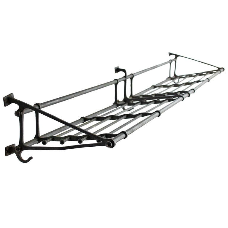 Antique Solid Br Pullman Train Coat Rack For