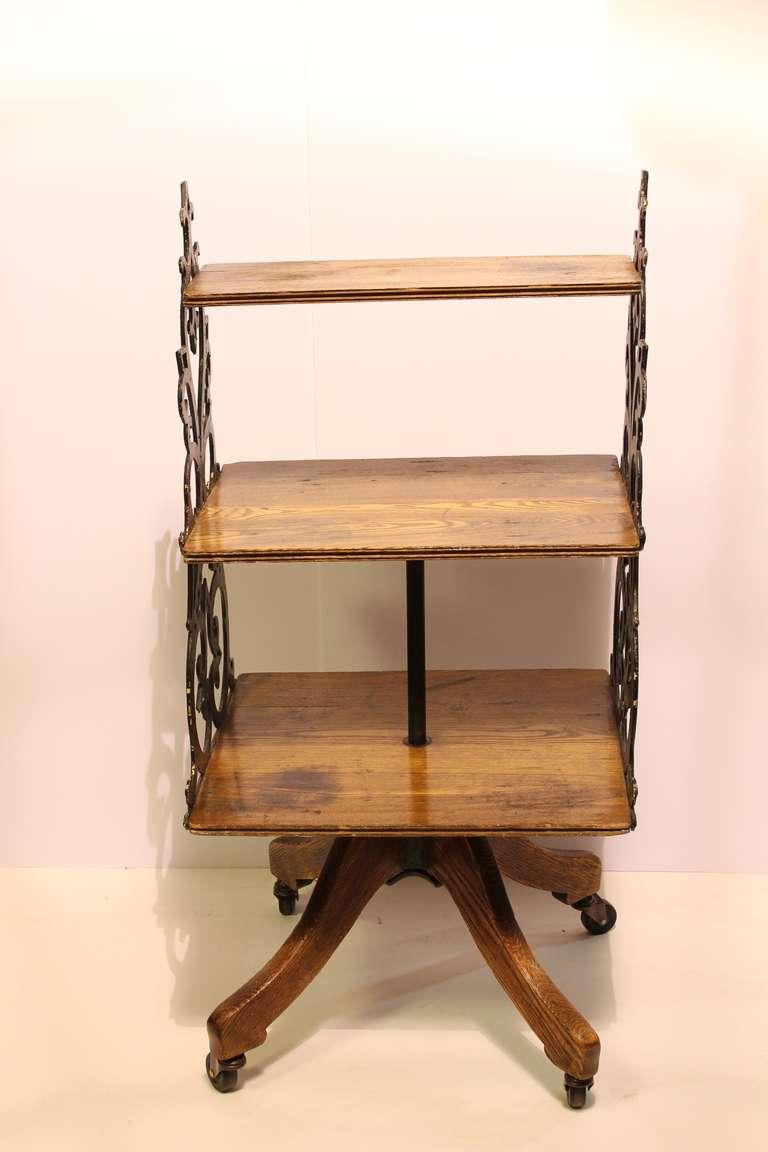 antique swing department store display shelves bookcase. Black Bedroom Furniture Sets. Home Design Ideas