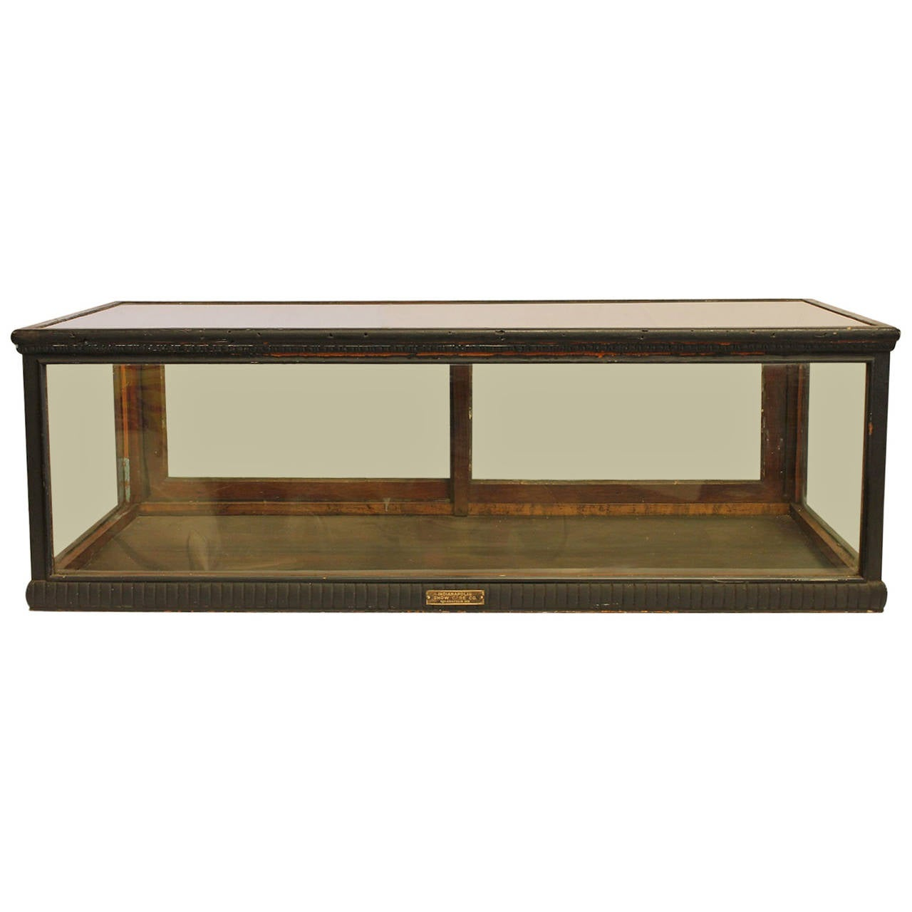 Table top display case - Antique Carved Wood Tabletop Display Showcase 1