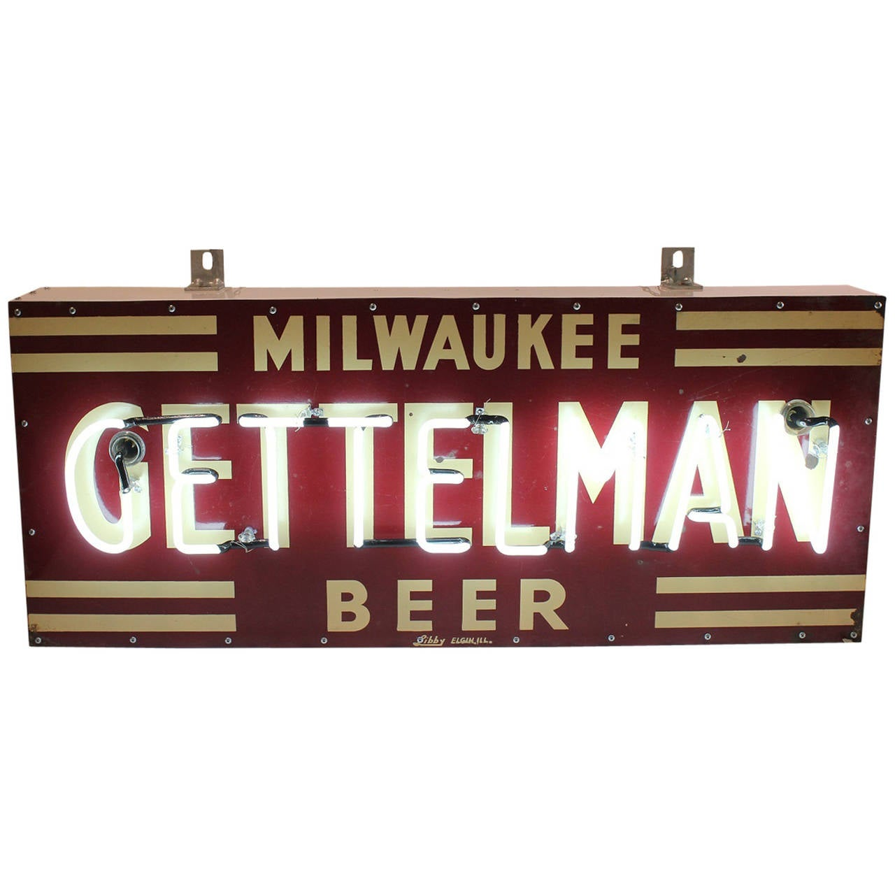 1930s porcelain neon sign milwaukee gettelman beer at for Craft stores in milwaukee