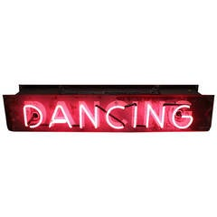 "Vintage Double Sided Neon Sign ""Dancing"""