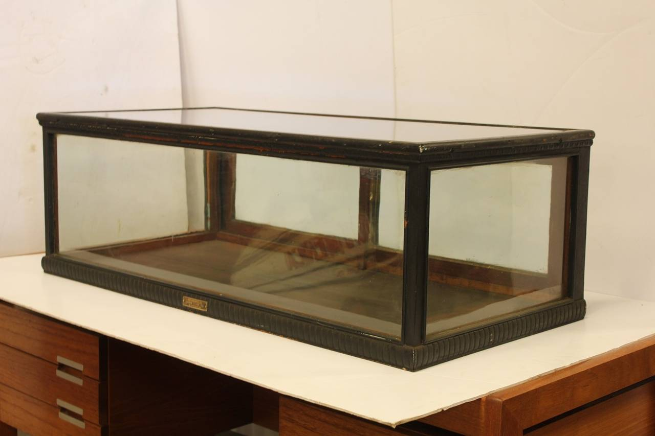 Table top display case - Antique Carved Wood Tabletop Display Showcase 2