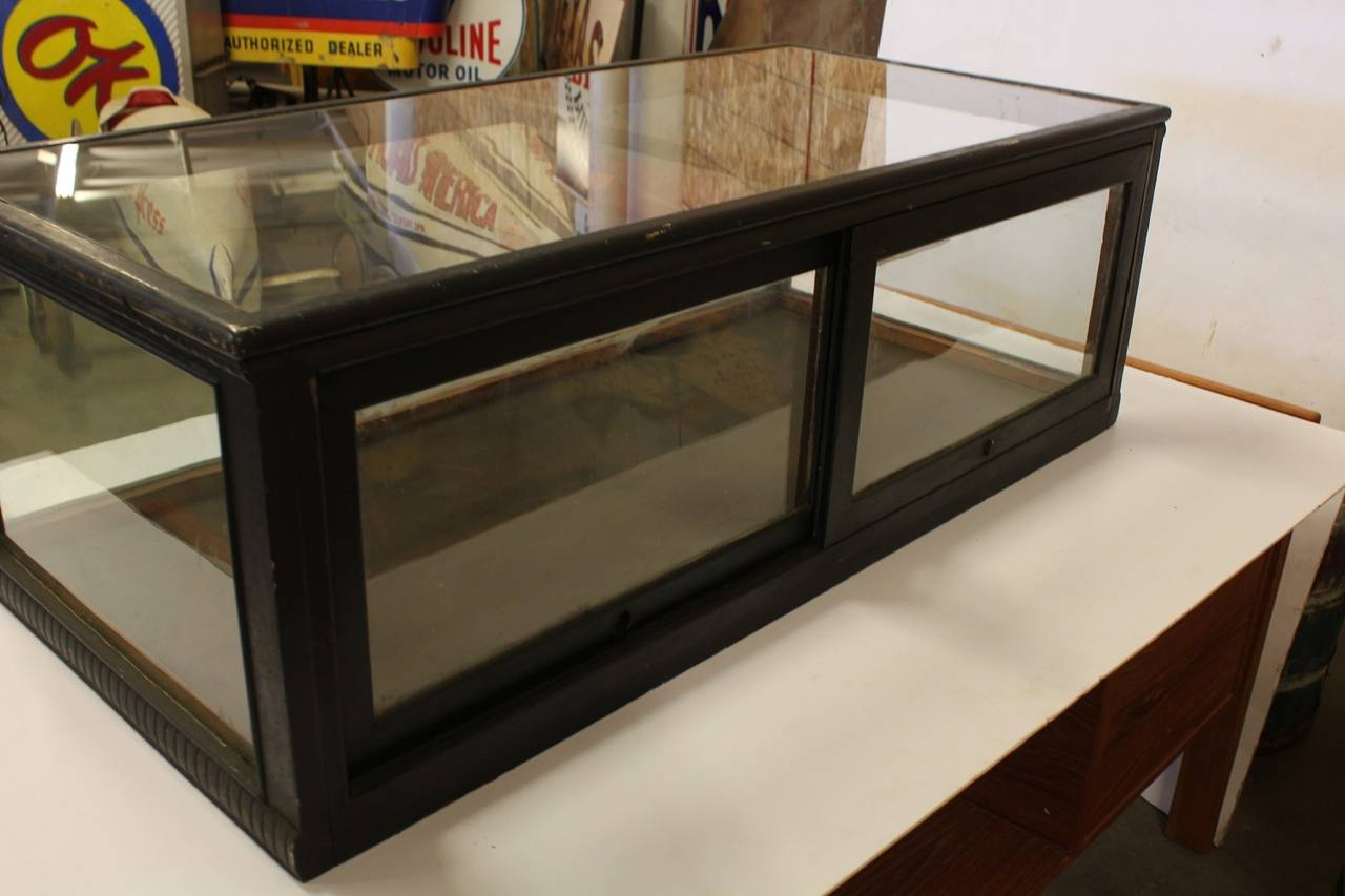 Table top display case - Antique Carved Wood Tabletop Display Showcase 3