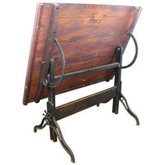 Antique American Drafting Table by Dietzgen