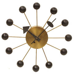 1950s George Nelson Ball Wall Clock for Howard Miller
