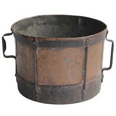 Antique Original English Copper & Iron Pot