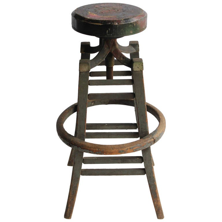 Antique Drafting Stool at 1stdibs : 1254404l from www.1stdibs.com size 768 x 768 jpeg 37kB