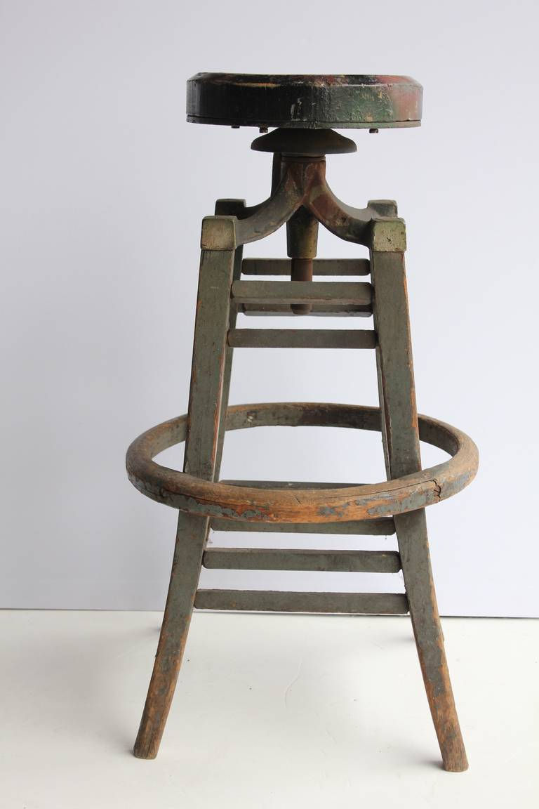 Antique Drafting Stool At 1stdibs
