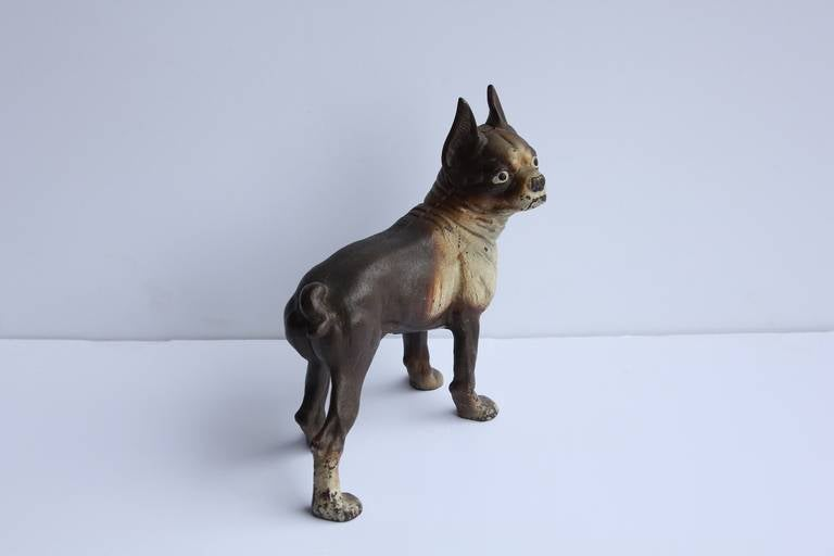 Antique Cast Iron Boston Terrier Dog Doorstop 3