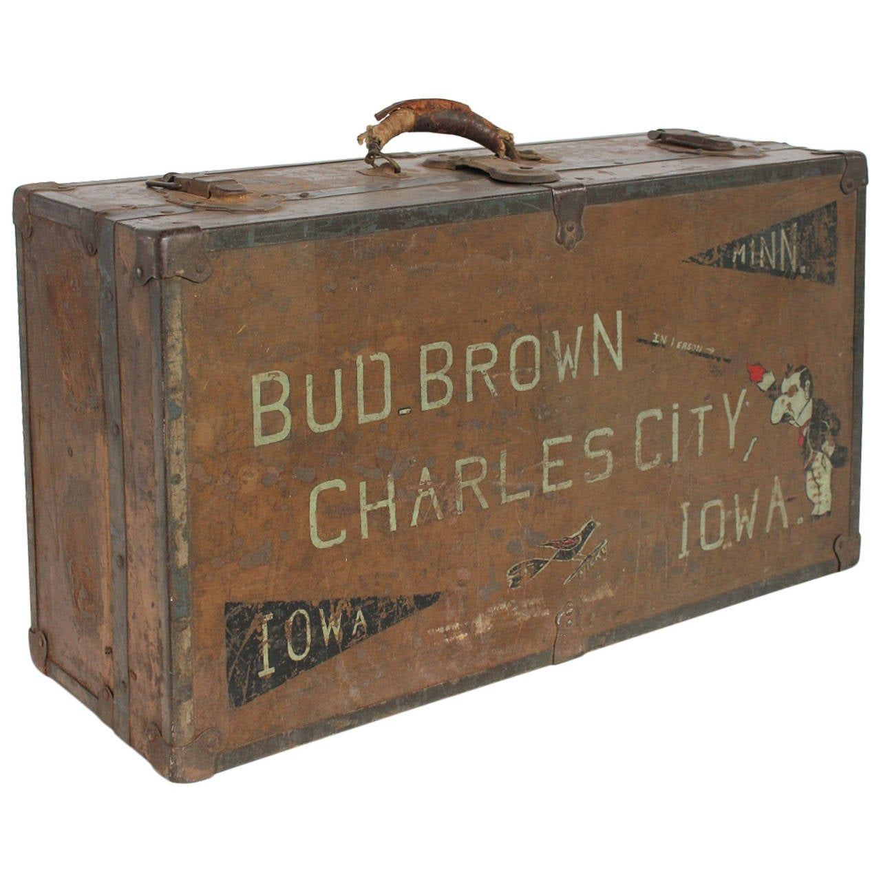 Vintage carnival magician suitcase from charles city iowa for The vintage suitcase