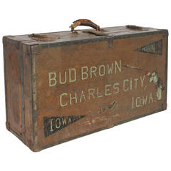 Vintage Carnival Magician Suitcase From Charles City Iowa