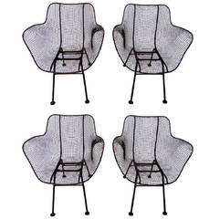 Four Russell Woodard Sculptura Chairs