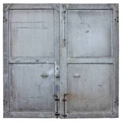 Antique Double Metal Industrial Doors