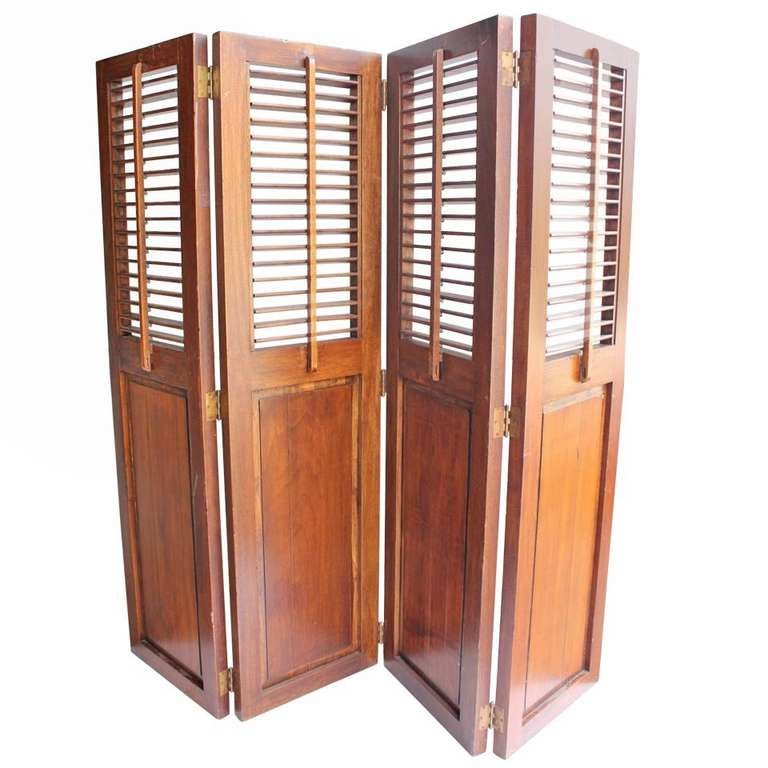 Antique wood library room divider folding screen at 1stdibs - Collapsible room divider ...