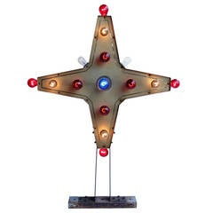 Car Dealer Double Sided Light Up Star Sign