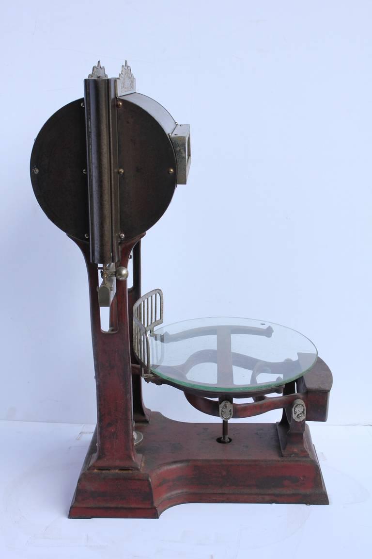 Rare Antique Dayton Computing Scale Company Hanging Barrel