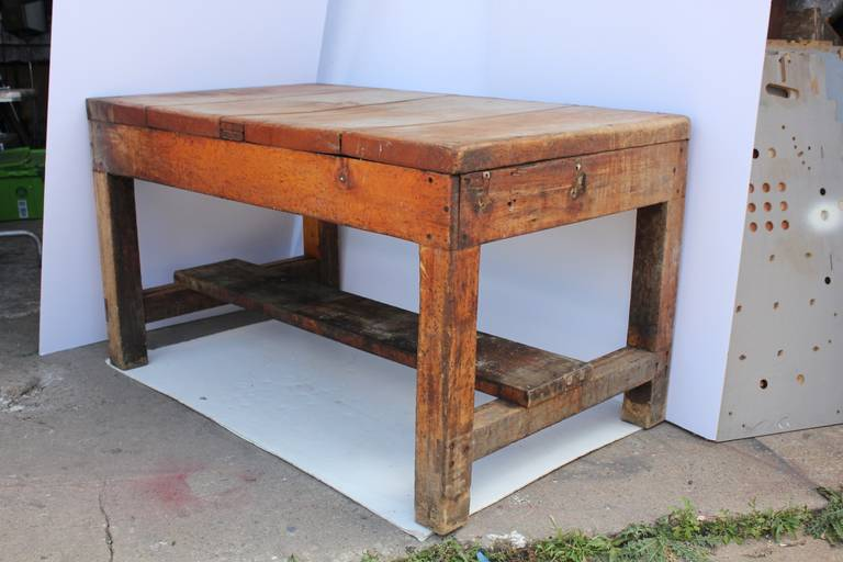 Antique Primitive Baker S Wood Table At 1stdibs