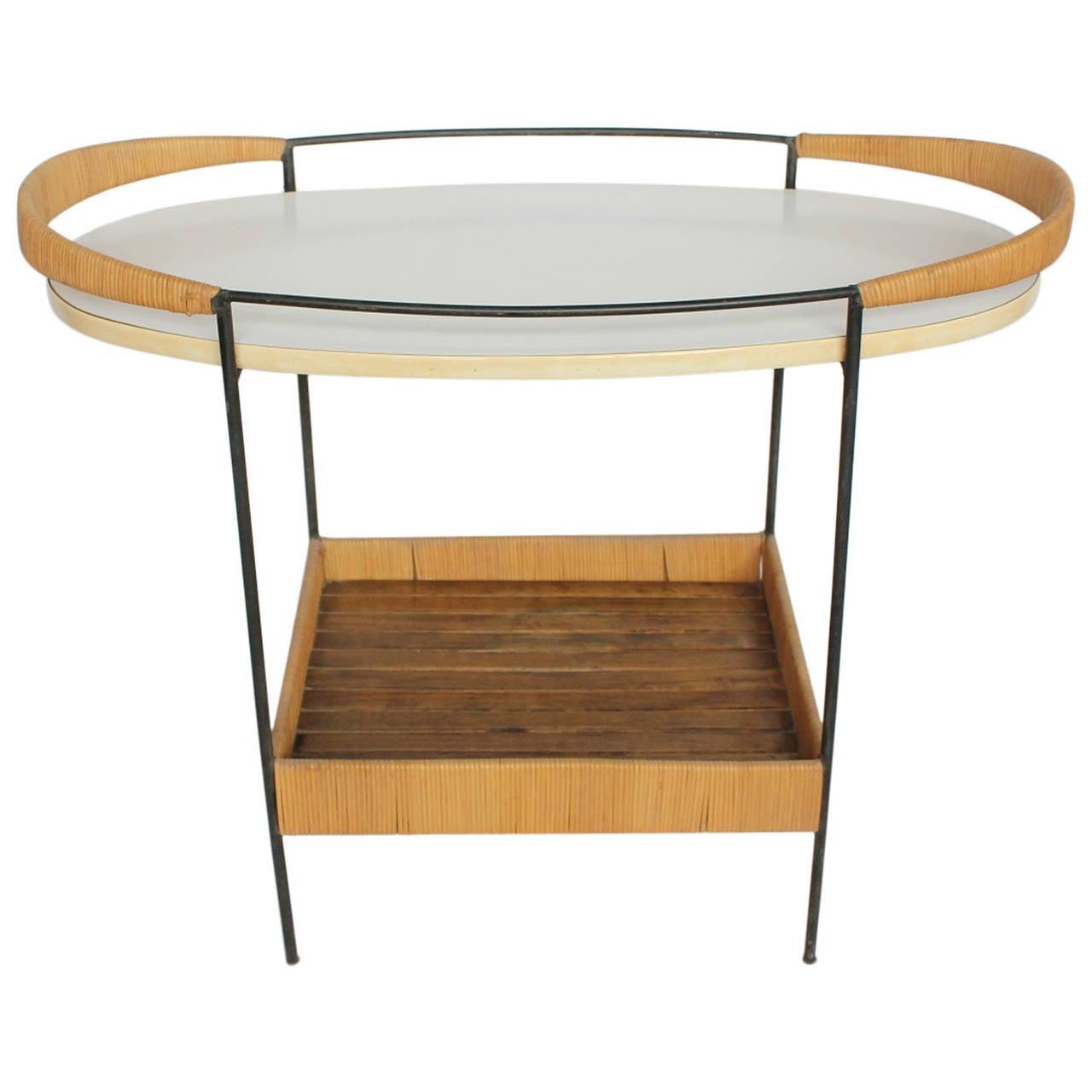 mid century bar cart by arthur umanoff for sale at 1stdibs. Black Bedroom Furniture Sets. Home Design Ideas