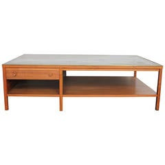 Leather-Top Coffee Table by Paul McCobb for Calvin Group