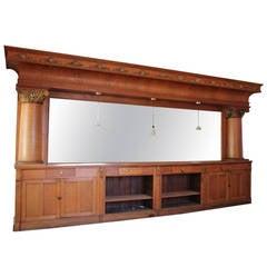 20ft Long Antique Oak Back Bar