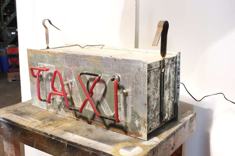 1950's Double Sided Neon Sign TAXI 2