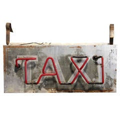 1950's Double Sided Neon Sign TAXI