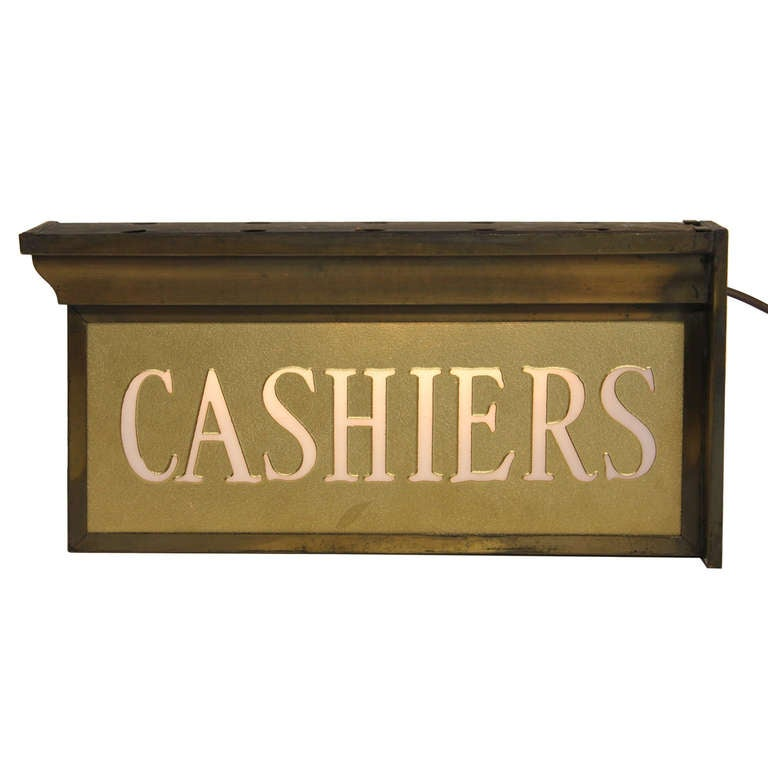 1930 S Double Sided Light Up Cashiers Sign At 1stdibs