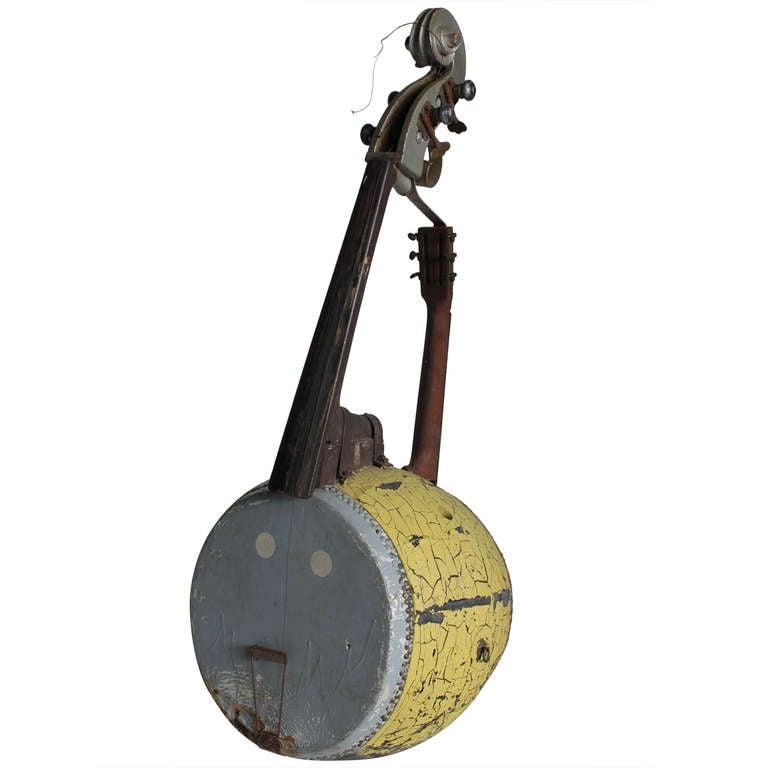 Large Folk Art Instrument Prop