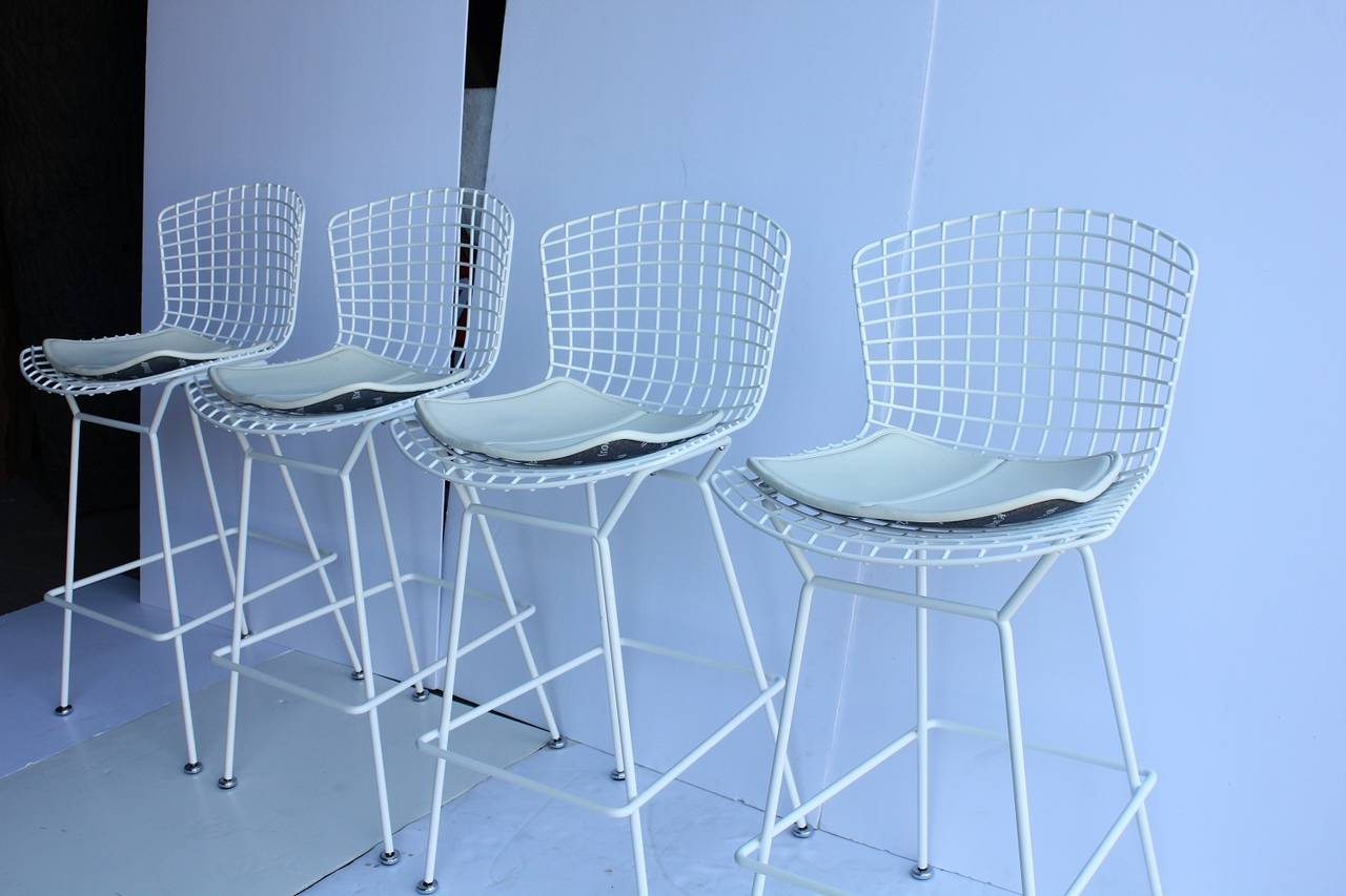 Italian Modern Sculptural Bar Stools By Harry Bertoia For