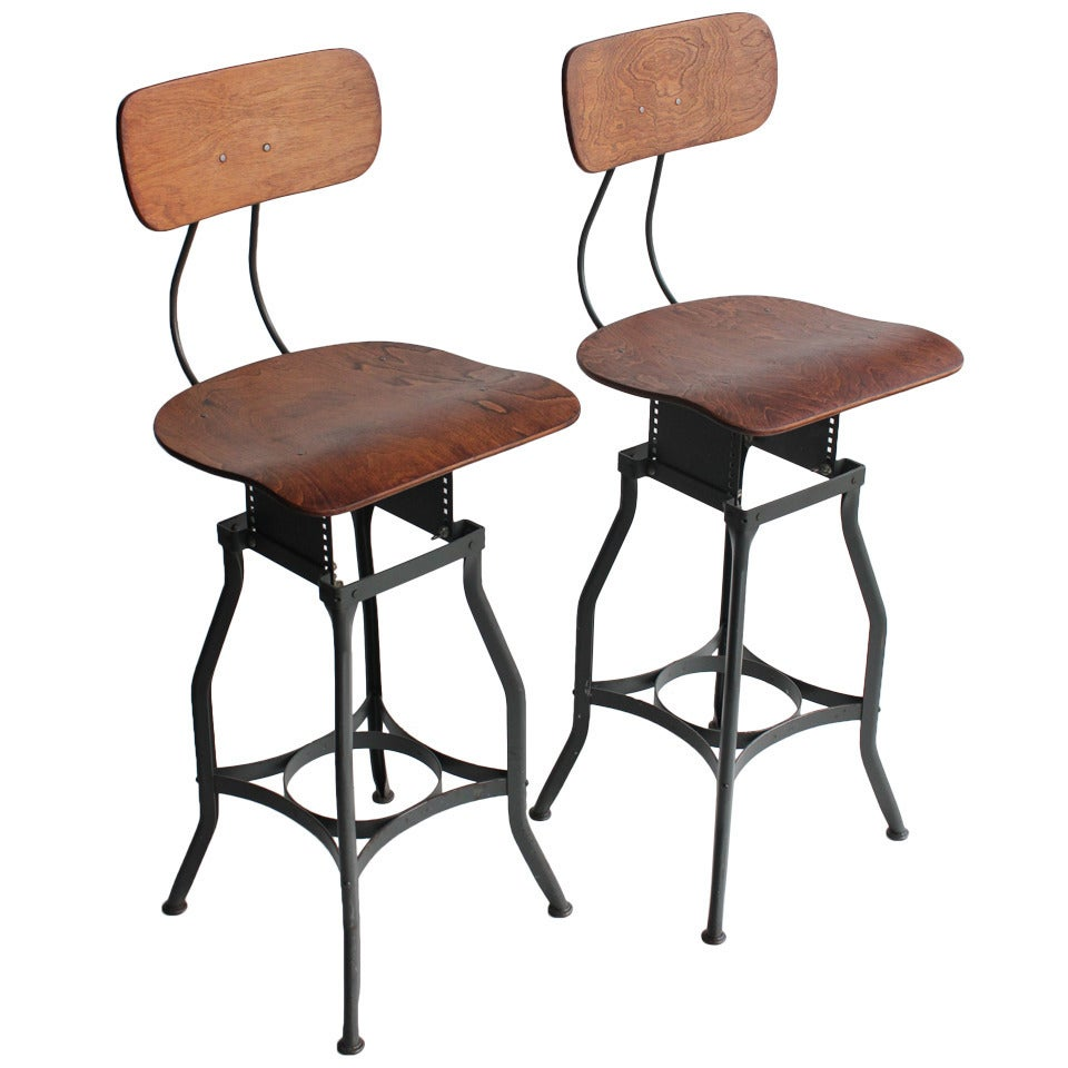 Original American Industrial Toledo Stool At 1stdibs