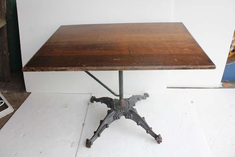 antique cast iron base drafting table 3