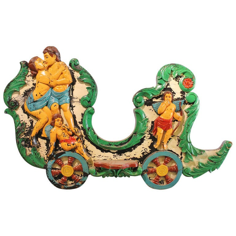 1920s Original Carousel Sled Side