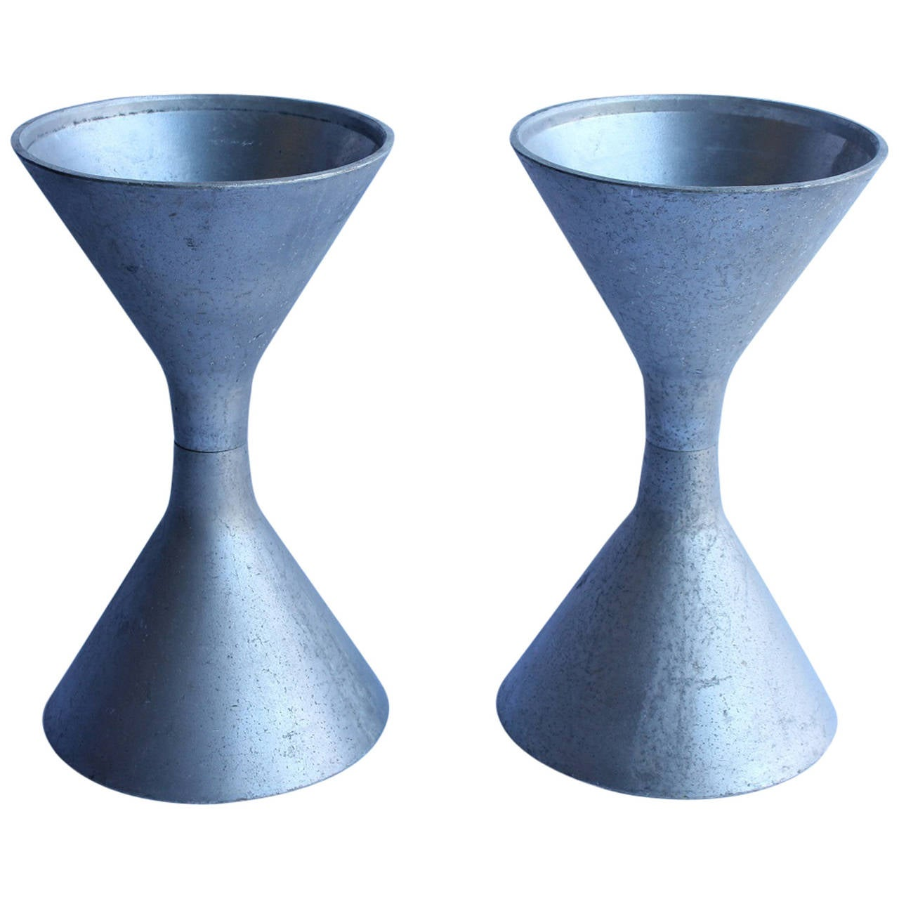 1950s French Willy Guhl's Style Hourglass Planters