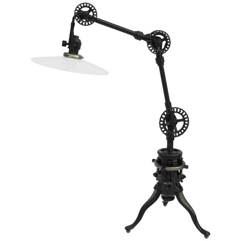 Industrial Table Lamp For Sale At 1stdibs