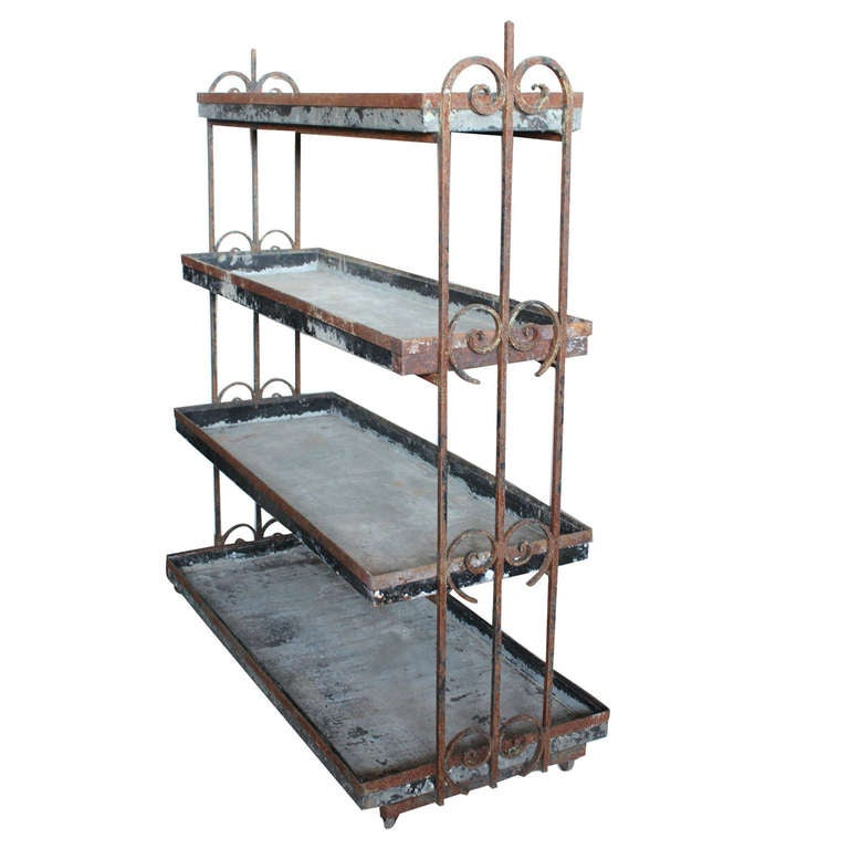 antique iron etagere at 1stdibs. Black Bedroom Furniture Sets. Home Design Ideas