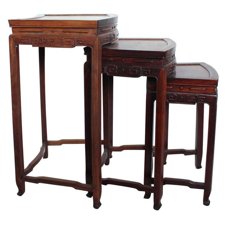 Mid Century Wood Nesting Tables