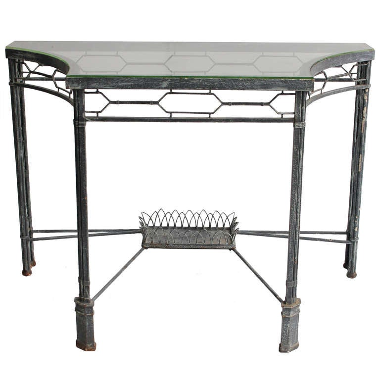 Modern demilune console metal table 2 available for sale at 1stdibs - White demilune console table ...