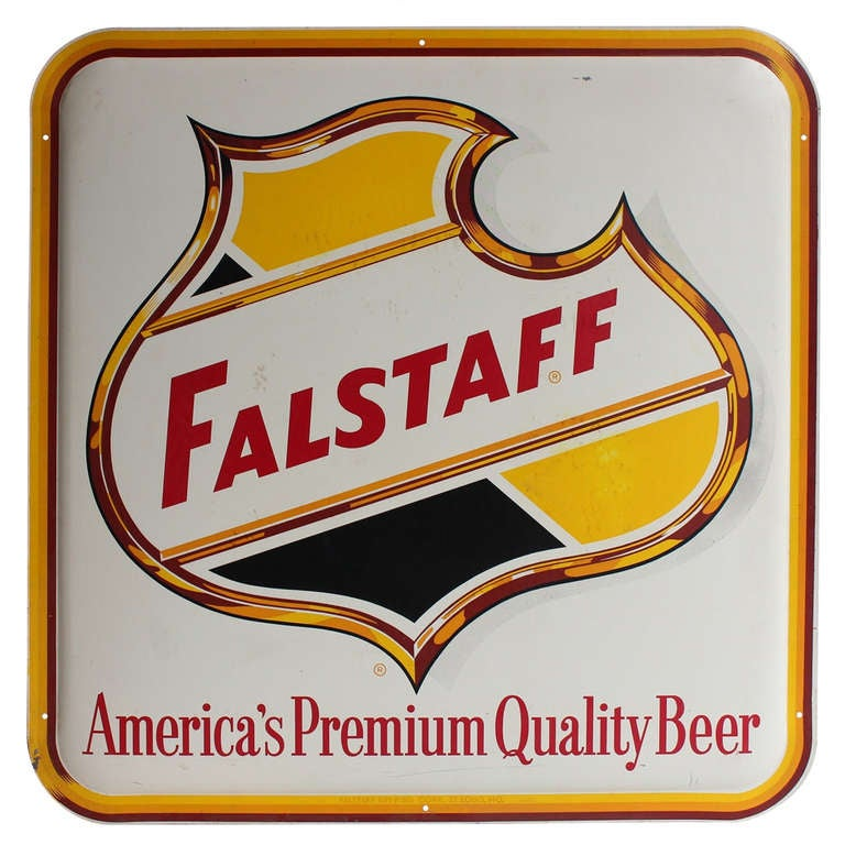 1950's Original Falstaff Beer Sign at 1stdibs