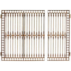Antique Solid Bronze Three-Panel Gate