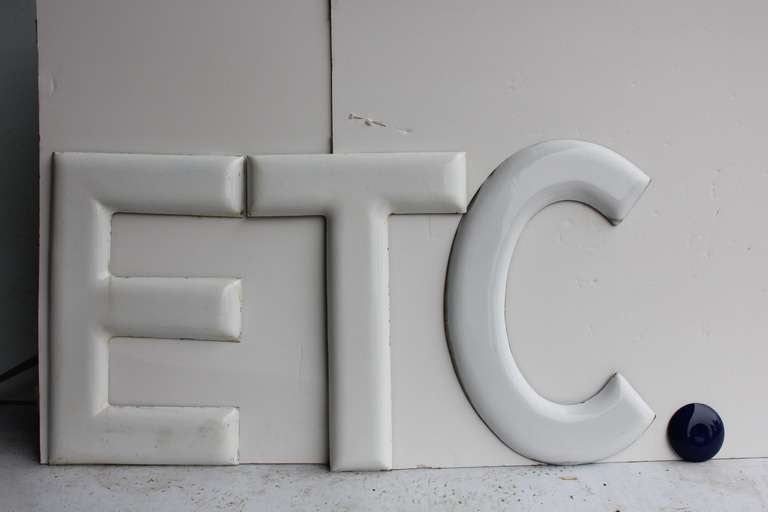 "1930's "" ETC."" Porcelain Sign 1"
